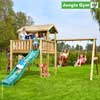 Jungle Gym Детский игровой комплекс Jungle Playhouse XL + Swing Module Xtra