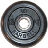 MB Barbell Диск для штанги черный обрезиненный, 1.25 кг (31 мм), серия Стандарт
