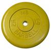 MB Barbell Диск для штанги цветной обрезиненный, 15 кг (26 мм), серия Стандарт
