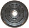 MB Barbell Диск для штанги черный обрезиненный, 2.5 кг (31 мм), серия Стандарт