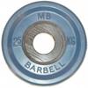 MB Barbell Диск олимпийский цветной обрезиненный, 2.5 кг (51 мм), серия Евро-классик
